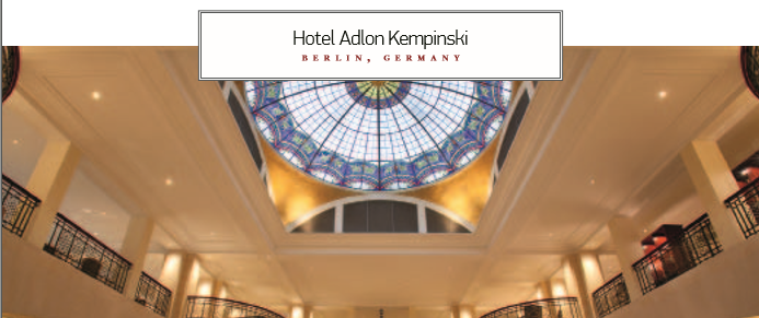 Hotel Adlon Kempinski BERLIN, GERMANY