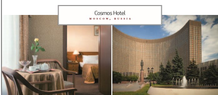Cosmos Hotel MOSCOW, RUSSIA